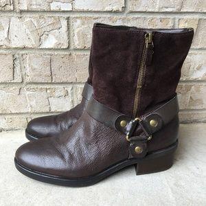 Franco Sarto Benton Leather Booties Size 8.5M